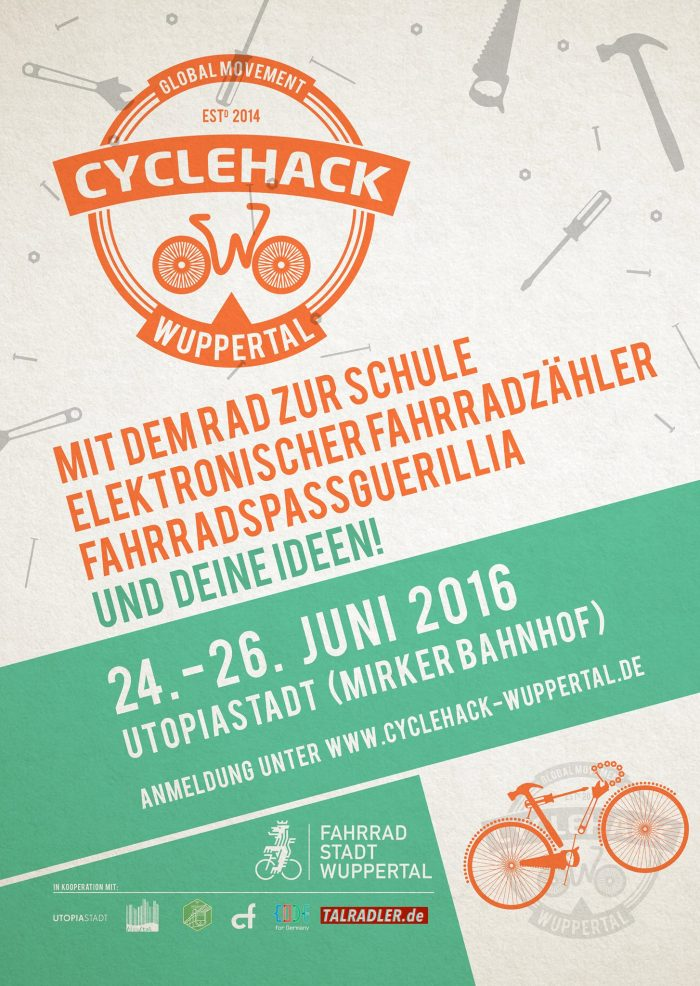 24. - 26.06.2016 Dieses Wochenende: CycleHack Wuppertal